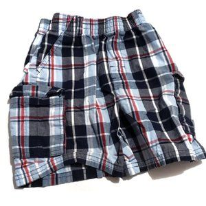 Other - blue red white plaid shorts  size 4t